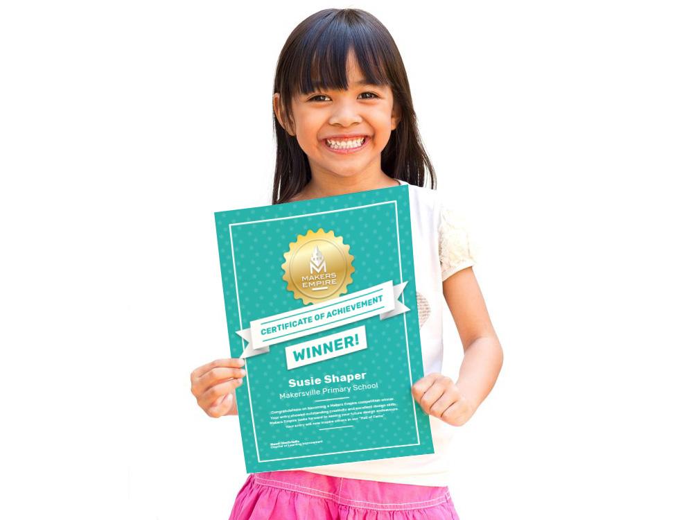 11422173 – smiling little girl holding empty white board