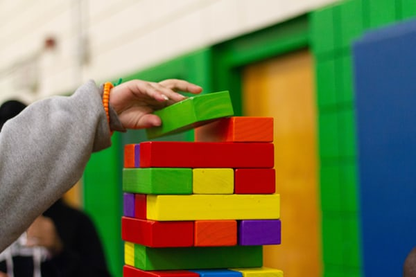 stack of colorful toy blocks