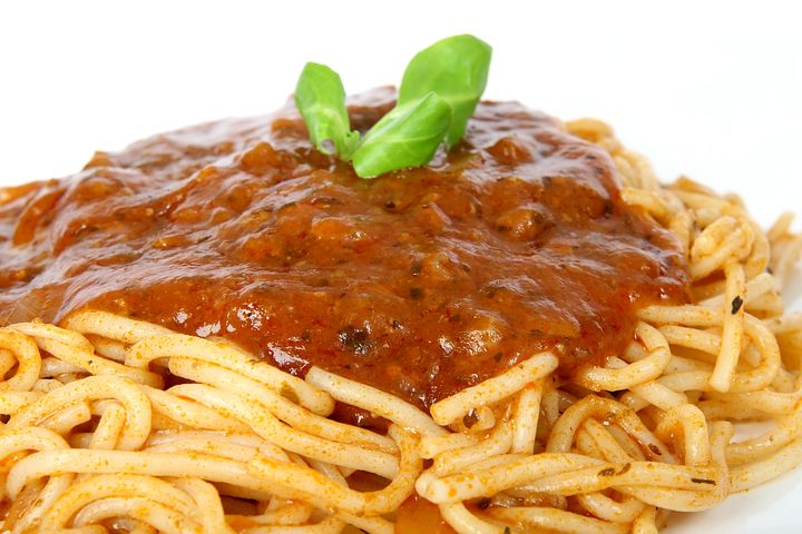 plate of spaghetti bolognese
