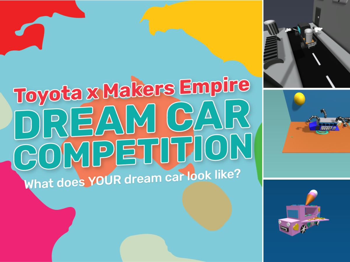 Winners of the Makers Empire x Toyota Dream Car Design Thinking Competition