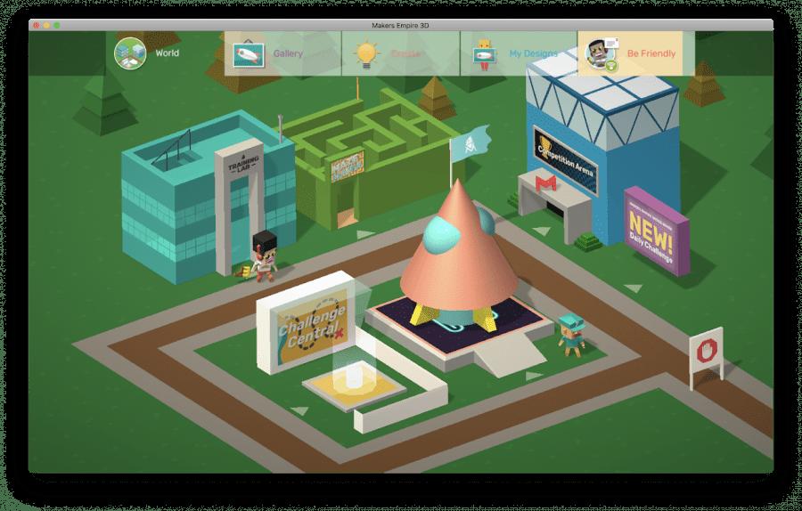 Makers Empire 3D design app world