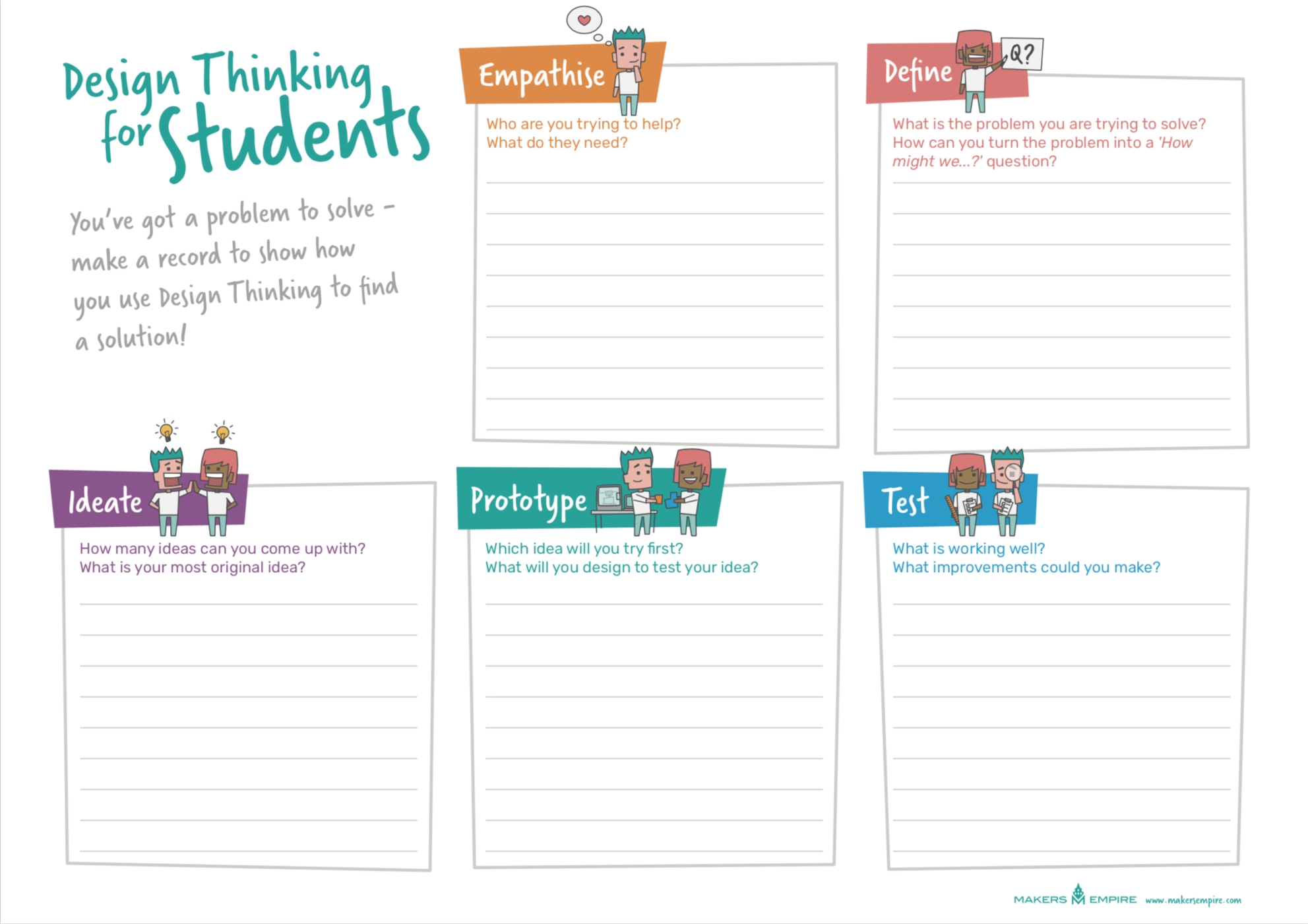 What Is Design Thinking A Handy Guide For Teachers Makers Empire