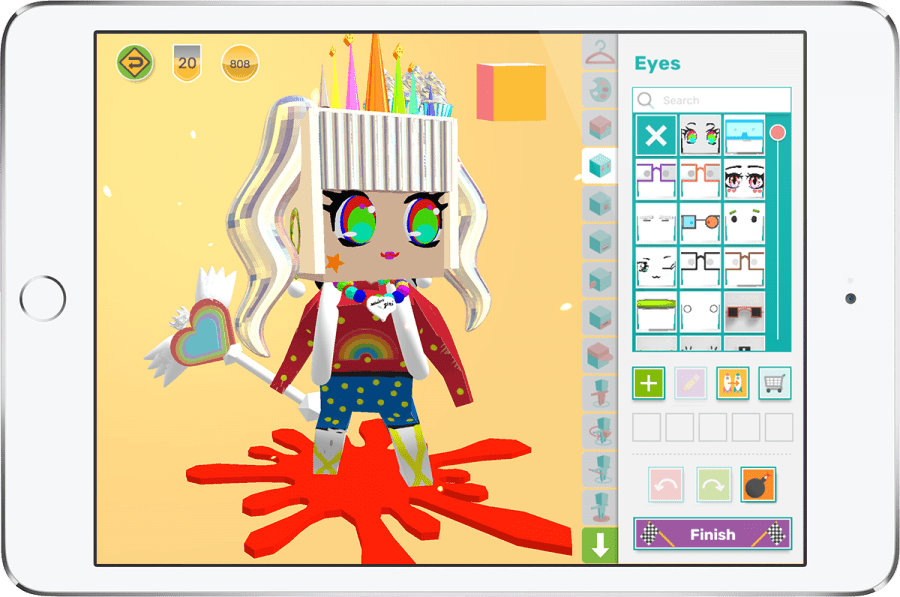 iPad with cute 3D design avatar