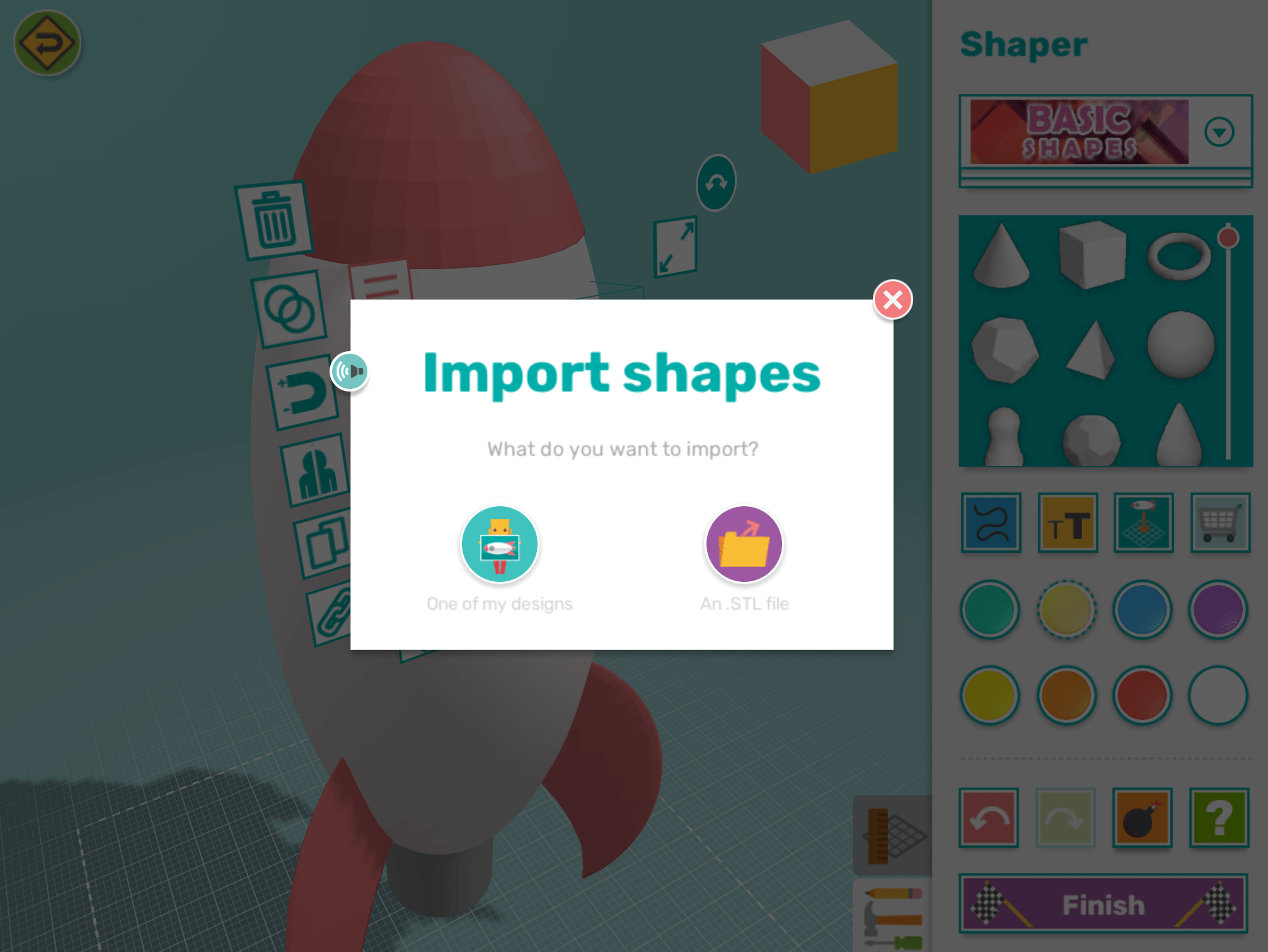 app import own shapes