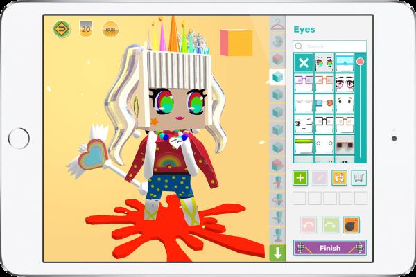 iPad with cute 3D design avatar