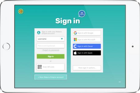 MAK app - new login screen on ipad