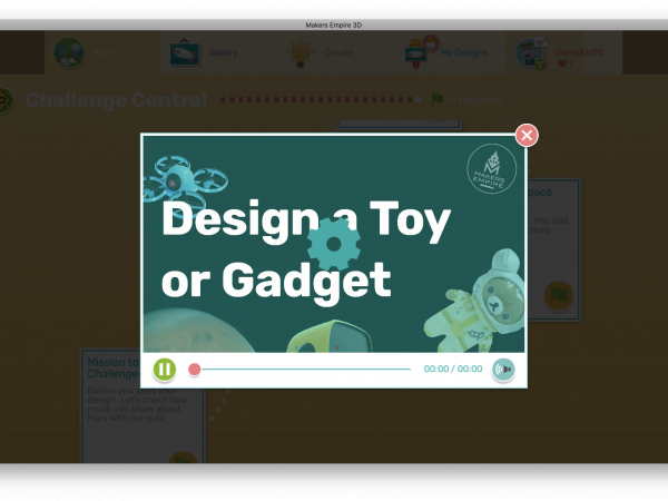 Makers Empire Challenge Paths: Design Video